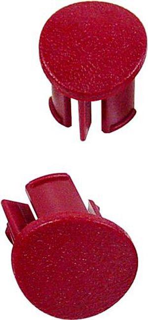 Mustang Door Armrest Plugs RH Scarlet Red (87-93)  sc 1 st  LMR.com & Mustang Door Panel Armrest Plugs - LMR.com
