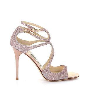 Jimmy Choo Riemchensandalen Lance Glitter Rosa Damen Schuhe