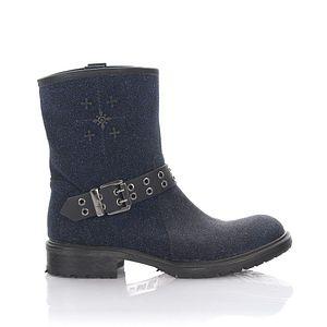 Rossano Bisconti Stiefel Damen Stiefeletten Boots Stoff