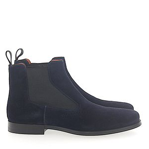 Santoni Chelsea Boots 13414 Veloursleder dunkelblau online
